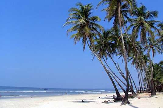 White sands palm fringed and sun drenched beaches colva is the most